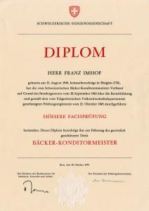 Diplom Bäcker-Konditormeister